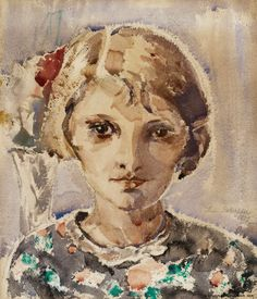 INA COLLIANDER Tytön Muotokuva (Portrait of a Girl, 1929)