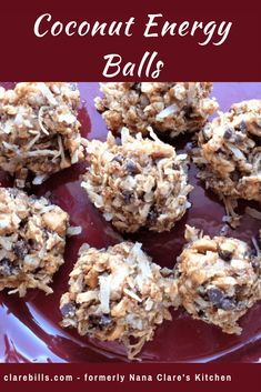 Healthy Snacks Coconut Energy Balls are a no bake nutritious option with peanut butter and oats . Paleo Snack, Healthy Protein Snacks, Protein Bites, Healthy Sweets, Snack Recipes, Healthy Recipes, Healthy Food, Healthy Energy Bites, No Bake Protein Bars