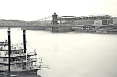 Down the Ohio by Rebecca Fey on Capture Cincinnati // Caught some awesome fog on the river.