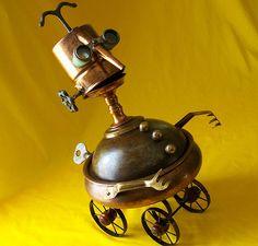 robot assemblage sculpture * CODGER by Reclaim2Fame, via Flickr