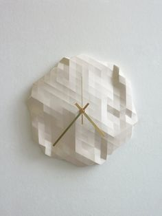 Hey, I found this really awesome Etsy listing at https://www.etsy.com/listing/102004116/faceted-wall-clock