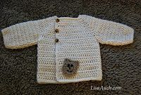 free crochet pattern for Baby Cardigan - sweater - cute