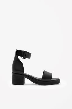 Block Heel Leather Sandals. Cos