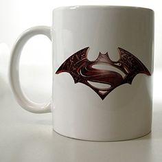 Batman and Superman Logo Mug Two Side 11 Oz Ceramic Mug http://www.amazon.com/dp/B00VFHRJWE/ref=cm_sw_r_pi_dp_kQljvb180FG1Q