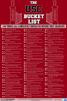 Check out the USC Bucket List and see how many you can do!