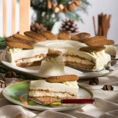 Winter-Tiramisu-Torte Me (Baking Sweet Yams) Healthy Dessert Recipes, Healthy Baking, No Bake Desserts, Baking Desserts, Sweets Cake, Cupcake Cakes, Winter Torte, German Bakery, Winter Desserts
