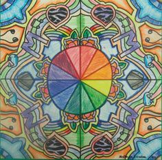 Makayla Kersten, a sixth-grader at Edison Middle School in Janesville, used colored pencil to create this color wheel image in art class.