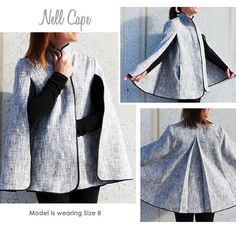The Nell Cape, For our Amazon customers, the multi sized pattern shouldn't be too far off ... | StyleArc