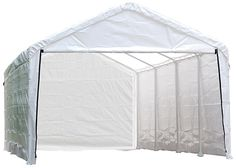 ShelterLogic 25776 Super Max 12ft. x 26ft. White Canopy Enclosure Kit Fits 2 in. Frame