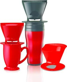 Porcelain 6 Cup Pour-Over Coffeemaker