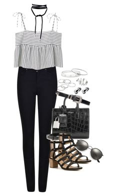 """Untitled #960"" by manoella-f on Polyvore featuring Armani Jeans, MANGO, Yves Saint Laurent, Lucky Brand, Ray-Ban, Apt. 9, Cartier and Michael Kors"