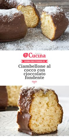 Ciambellone al cocco con cioccolato fondente Coconut Flour Recipes, Torte Cake, Plum Cake, Sweet And Salty, Sweet Sweet, Sweet Cakes, Sweet Recipes, Sweet Treats, Food Porn