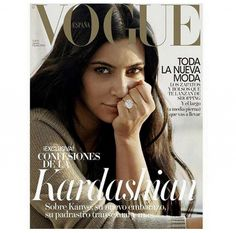 They're Here: More Images of Kim Kardashian Sans Makeup for Vogue via @WhoWhatWear