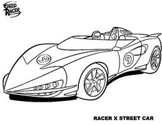 33 Best Speed Racer Coloring Pages Images In 2020 Speed Racer