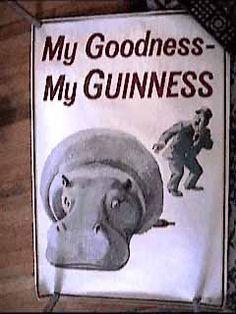 hippo guinness poster