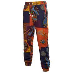Spiral Print Drawstring Elastic Waist Jogger Pants – Dark Orange – Size L – Bell-bottoms African Clothing For Men, African Men Fashion, Ethnic Fashion, Mens Fashion, Ankara Fashion, African Women, Jogger Pants Style, Printed Trousers, Fashion Pants