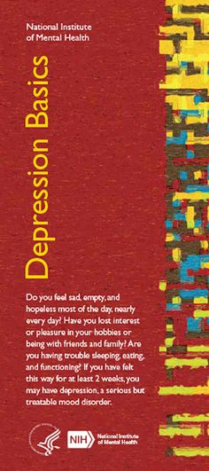 Do you feel sad, empty, and hopeless most of the day, nearly every day? Have you lost interest or pleasure in your hobbies or being with friends and family? Are you having trouble sleeping, eating, and functioning? If you have felt this way for at least 2 weeks, you may have depression, a serious but treatable mood disorder.