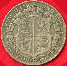 GREAT BRITAIN - 1/2 CROWN - 1922 - 50% SILVER - 0.2273 ASW