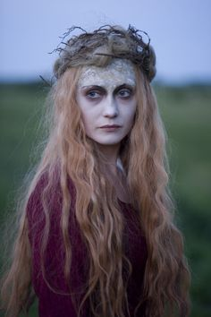 Langiva  Carice van Houten from the movie Black Death. Also plays Melisandre in Game of Thrones.