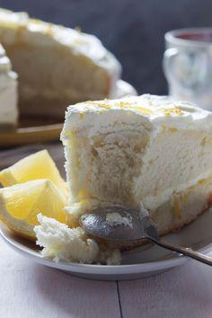 Lemon sponge cake with cream and zest closeup. Food photography, food photo, food styling, foodporn, food images, food pics, Food pictures #food #foodphotography #foodporn #foodstyling #foodstylist #foodie #foodfoto #cakephoto #dessert