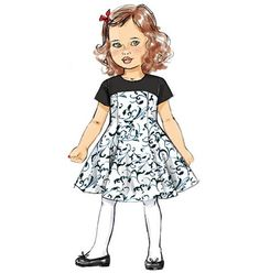 Butterick Sewing Pattern Children's/Girls' Fit and Flare Dresses Fashion Design Drawings, Fashion Sketches, Patron Butterick, Fit N Flare Dress, Kids Patterns, Dress Sewing Patterns, Fashion Kids, Fashion 2020, Fashion Trends