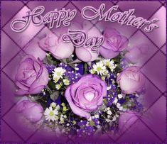 Happy Mother's Day flowers purple mom happy mother's day mother's day mother's day gif