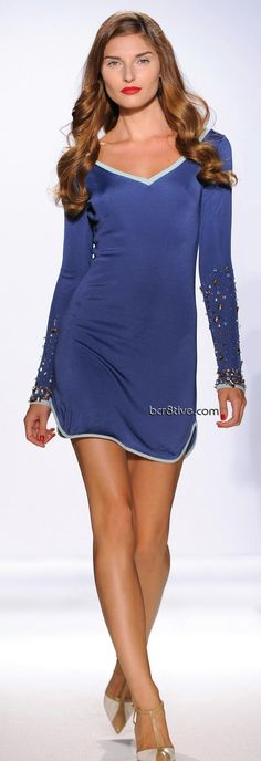 Gattinoni Spring Summer 2011 Ready to Wear - Royal Blues - Love the beading on the sleeves!