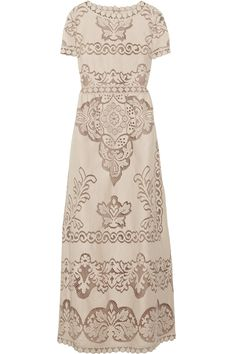 valentino cottonblend lace gown via lyst