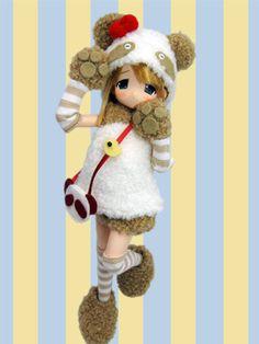 Mamachapp Stripes Panda Brown Moco Chan Azone Pureneemo Obitsu 1 6 Doll