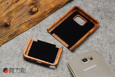 100% Natural Wooden Wood Bamboo Phone Case For Samsung GALAXY Smartphone Cover
