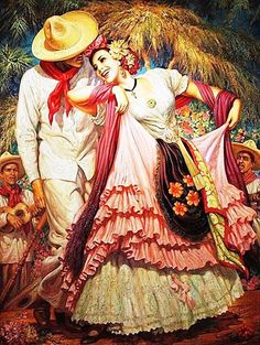 Arte del Ballet Folklorico - Vintage Mexican Illustration