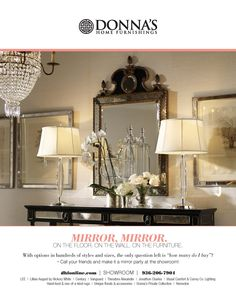 Check out our ad in Flair Magazine this month featuring some of the incredible finds in our showroom. Visit us this weekend to see our stunning collection of mirrors, and get tips from our design experts about how to use them in your home to brighten up your interior.