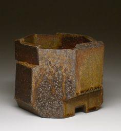 Jonathan Cross    Mesa, AZ  Rusticated Relief Planter  6x9x9  Stoneware; wood, salt fired  $475