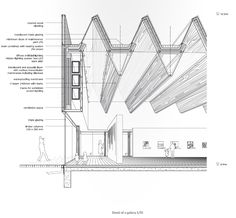 from gh 04380895 booklet sanitised no appendices disegni Detail Architecture, Architecture Drawings, Light Architecture, Concept Architecture, Interior Architecture, Roof Design, Facade Design, Parking Plan, Section Drawing
