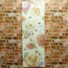 Set 2 Rose & Tulip Floral Wood Board Canvas Print Picture
