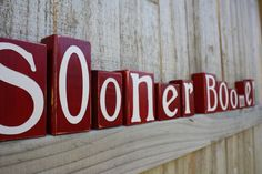 CUSTOM OU BLOCKS Boomer Sooner Game Day by KnottedPineDesign
