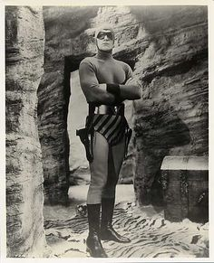 Tom Tyler in the title role of the 1943 cliffhanger serial The Phantom (Columbia Pictures)