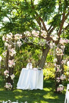 Wedding Canopy & Arches - Dreamy and decadent, this wedding arch is simply a garland adorned with jewels and an assortment of pretty flowers! Wedding Ceremony Ideas, Wedding Arbors, Wedding Canopy, Reception, Wedding Backyard, Wedding Ceremonies, Wedding Trellis, Arch Wedding, Backyard Gazebo