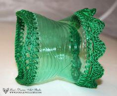 Eco Friendly Recycled Upcycled Plastic Bottle  Bracelet
