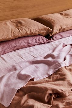 Bed Threads French flax linen bedding is buttery soft, and comes in 16 different colours. Mix and match your linen and pair them with beautiful homewares, ceramics and art to build your ultimate sleep sanctuary. Bed Linen Sets, Linen Duvet, Linen Sheets, Dream Bedroom, Home Bedroom, Bedroom Decor, Bedrooms, Bedroom Ideas, Bedroom Inspiration