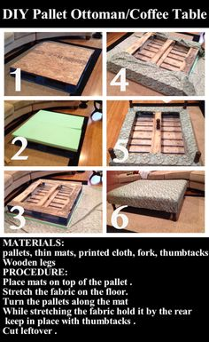 Making an ottoman out of a coffee table this would be so diy pallet ottomancoffee table pictures photos and images for facebook tumblr solutioingenieria Images
