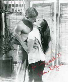 """Love in the """"South Pacific"""" between U.S. Marine Lt. Cable and beautiful Tonkinese Liat played by John Kerr and France Nuyen."""