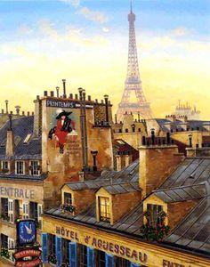 Paris Morning, by Liudmila Kondakova
