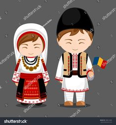 Imagens, fotos stock e vetores similares de Ukrainians in national dress with a flag. A man and a woman in traditional costume. Travel to Ukraine. Romania People, Travel To Ukraine, Pottery Painting Designs, Costumes Around The World, Thinking Day, Flat Illustration, People Of The World, Royalty Free Photos, Traditional Outfits