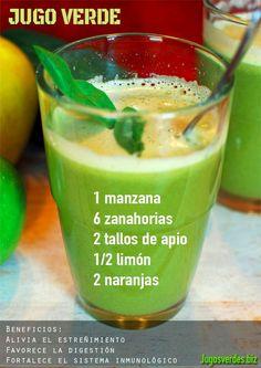 jugo verde para combatir el estreñimiento