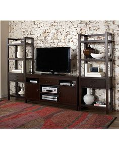 Concorde Entertainment Center, Wall Unit - Media Storage Furniture - furniture - Macy's, $1399