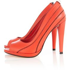 Karen Millen Fun stud peep toe shoes found on Polyvore