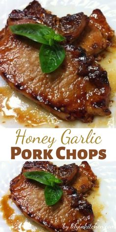 You'll love the robust taste of these tender honey garlic pork chops, and they are ready with a quickness! The honey and garlic sauce is so good, I sometimes double it so there's extra for dipping. Pork Chop Recipes, Meat Recipes, Healthy Dinner Recipes, Cooking Recipes, Honey Garlic Pork Chops, Crockpot, Boneless Pork Chops, Pepper Steak, Keto