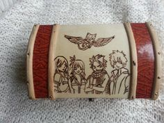Fairy Tail Inspired Anime Jewellery Box Wood Burned Handmade by