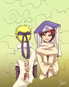 Gaara and Naruto <-- I've always loved their friendship. I think the way they understand and cheer for each other is awesome.